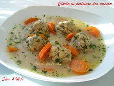 » Ciorba cu perisoare din ciuperciCulorile din Farfurie Thai Red Curry, Meat, Chicken, Ethnic Recipes, Food, Essen, Meals, Yemek, Eten
