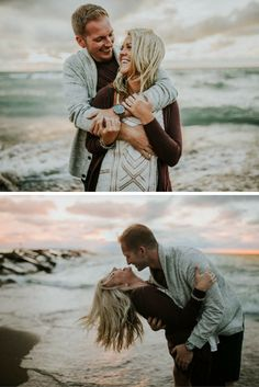 These might just be the prettiest beach engagement photos ever! The couple even has a perfect love story to match. <3