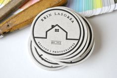 200 Custom round letterpress calling cards by FunkyPrintStudio