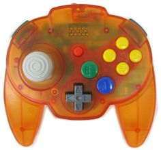Clear Orange Hori Mini Pad N64 Controller