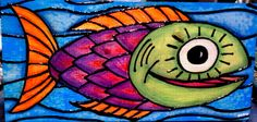 YAY! My fish was just included in a treasury list on etsy!  Check it out!  Funky Orange Tail Fish Painting by Gemmasgems on Etsy, $75.00