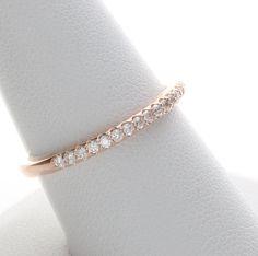 Rose Gold Wedding Ring, Rose Gold Diamond Band, Rose Gold Wedding Ring, Rose Gold Diamond Ring, Diamond Rose Gold Band, Anniversary Ring