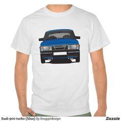 Saab 900 turbo (blue)  #saab900 #classic #sweden #sverige #automotive #tshirt #tpaita #troja #saab #blue #car