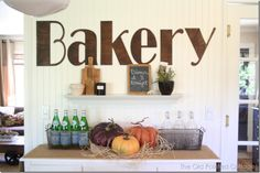 The Old Painted Cottage - Our bakery wall