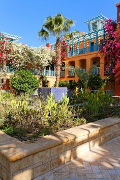 Colorful courtyard at Sheraton Hotel - El Gouna, Egypt