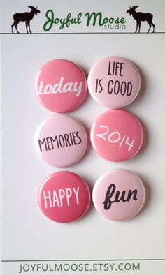 Scrapbook Flair Badges - Today is Good Pinks. Are you a fan of pink? I bet you are! Follow us here for tips and ideas, join us at https://www.jetpic.com to find out how well YOU rock this happy color!