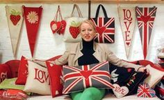 Jan Constantine is one brilliant lady. I have just discovered her store and will be a fan forever! Union Jack, Design Crafts, Hand Embroidery, How To Memorize Things, English, Quilts, Christmas Ornaments, My Favorite Things, Holiday Decor