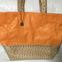 BIG BUDDHA BAG Super cute large satchel bag! Beautiful spring colors. Never used. Faux Leather Big Buddha Bags Satchels