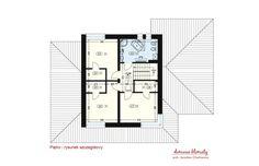 Projekt domu Verona III, wizualizacja 4 Modern House Plans, Modern House Design, Verona, Small Modern Home, House Entrance, Ground Floor, Building A House, New Homes, Floor Plans