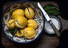 Moroccan Preserved Lemons | Adeline & Lumiere   #adelineandlumiere #foodphotography #foodstyling #condiment #moroccan #recipe Preserved Lemons, Food Styling, Preserves, Moroccan, Pear, Nom Nom, Food Photography, Cooking Recipes, Canning