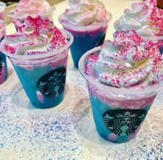 Starbucks Unicorn Frappuccino - Just look at those sprinkles!