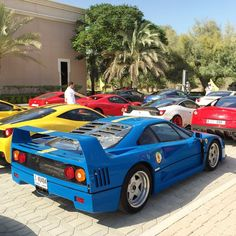 Ferrari A blue by anytimespy Ferrari F40, Performance Cars, American Muscle Cars, Car Photography, Hot Cars, Exotic Cars, Cars And Motorcycles, Super Cars, Classic Cars