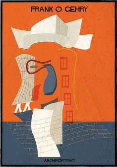 Las Últimas Ilustraciones de Federico Babina: ARCHIPORTRAIT The Latest Illustration from Federico Babina: ARCHIPORTRAIT – Plataforma Arquitectura