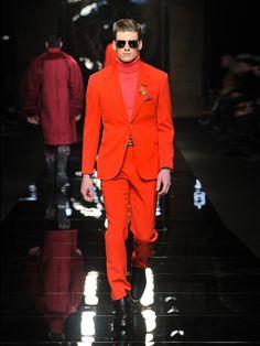 Versace red suit 2012.