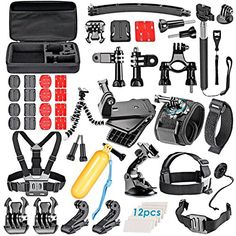 VanteexPro 60in1 Accessories Bundle Kit for Gopro HERO 5 4 3 3 2 1 Camera Accessories Combo Kit * Check this awesome product by going to the link at the image.