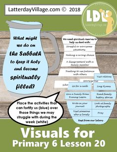 Primary 6 Lesson 20 - The Israelites Receive Food From Heaven - LatterdayVillage
