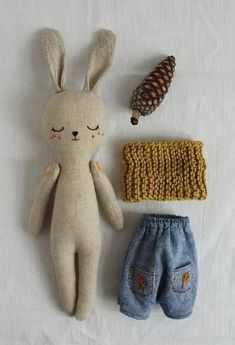 Bunny doll fabric doll made with organic linen organic cotton hemp dress and organic cotton scarf bunnydoll linendoll ecotoy organictoy organicdoll fabricdoll ragdollRabbit soft toy / bunny doll / grey flannelette or by willowynnbunny or bear soft to Crochet Patterns Amigurumi, Amigurumi Doll, Easy Knitting Projects, Sewing Projects, Fabric Toys, Fox Fabric, Pattern Fabric, Sewing Toys, Diy Toys