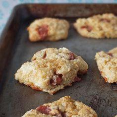 cream cheese scones with guava paste.