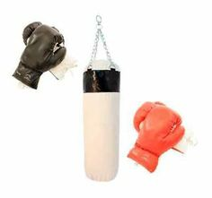 Boxing Set Punching Gloves and Cardio Workout Bag Home Gym Strength Fitness