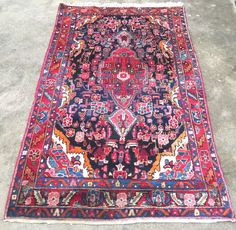 """4'4""""x7' Vintage Persian Rug by BEHomeCo on Etsy https://www.etsy.com/listing/280860076/44x7-vintage-persian-rug"""
