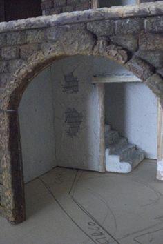 Foro de Belenismo - Paso a paso -> Una casita para el belen Diy Home Crafts, Xmas Crafts, Paper Mache Crafts, Wine Cellar, Villas, Christmas, Decor, World, Births