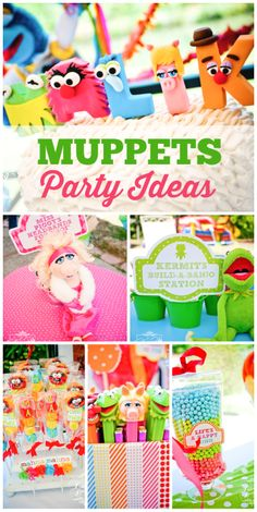 What an amazing birthday party celebrating the Muppet Show!  See more party ideas at CatchMyParty.com!