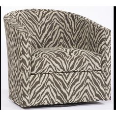 Animal Print Swivel Chair ($1,147) ❤ liked on Polyvore featuring home, furniture and chairs