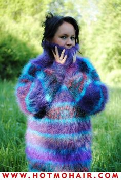 Extreme Knitting, Mohair Sweater, Jumpers, Womens Fashion, Sweaters, Pictures, Turtleneck, Wool, Breien