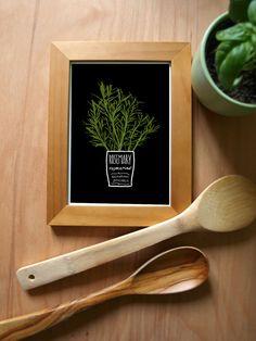 ROSEMARY Kitchen Art Print Mediterranean Herbs Garden  by anek, $30.00