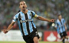Barcos - Comemoração gol - Nacional (COL) 0 x 2 Grêmio - LA 14