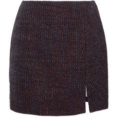 Carven Tweed Fantaisie Mini Skirt ($460) ❤ liked on Polyvore