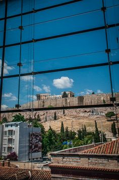 The Parthenon pictured from Acropolis Museum