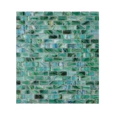 American Olean Visionaire Brick Subway Stained Glass - VA91 Peaceful Sea - 5/8 X 1-1/4 Mini Brick Subway Designer Essentials Stained Glass Tile Mosaic - Glossy