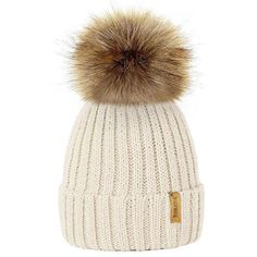 Winter Wool Knitted Beanies Mother And Kids Pom Pom Hats For Baby Children Winter Raccoon Fur Ball Pompom Cap Boys Girls Gorros