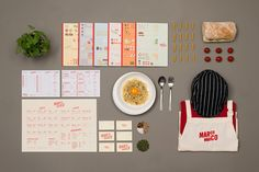 Logo, business cards and menus designed by Acre for Singapore based Italian restaurant brand Marco Marco
