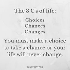 When is the last time you took a #chance? #goals