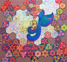 """Puzzle """"O Vôo do Beija-Flor"""" - Posição possível do beija-flor sobre as flores VI - Por Antônia Sobral"""