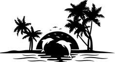 New Ideas Palm Tree Clipart Graphics Art Clipart, Vector Art, Silhouette Art, Silhouette Cameo Projects, Palm Tree Sunset, Palm Trees, Palm Tree Drawing, Tree Graphic, Tree Svg