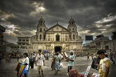 The Phillipines. We should not let our fears hold us back from pursuing our hopes. God is always behind us.One busy afternoon at Quiapo church, Manila Philippines. Philippine Holidays, Manila Philippines, Hold On, Places To Visit, To Go, Louvre, Street View, Scene, Let It Be
