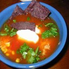Busy Night Turkey Taco Soup With Avocado Cream from Allrecipes, found @Edamam!