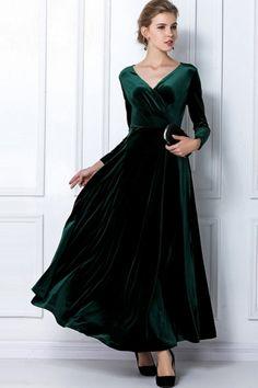 Gorgeous Pleuche Dress - OASAP.com