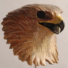 Bald Eagle Mask Hand Carved Wood Sculpture by jasontennant on Etsy, $475.00