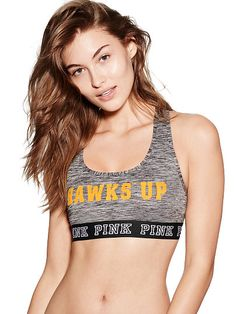 University of Iowa Logo Crop Bra PINK