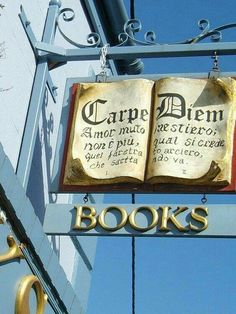 I love books AND unique signs! I Love Books, Books To Read, Book Cafe, Pub Signs, Blue Books, Store Signs, Hanging Signs, Book Nooks, Library Books