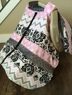 Carseat Canopy FREE SHIPPING Code Today Pink By CoveredNLove1