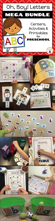 20 engaging activities, centers and printables to add to your preschool letter curriculum.