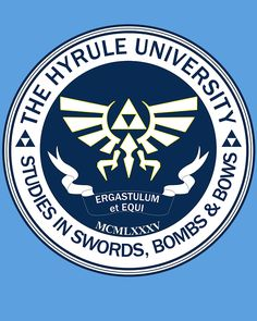 Hyrule University T-Shirt $11 Legend of Zelda tee at Unamee!