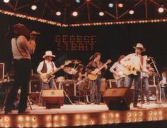 George Strait and Ace In The Hole Band performing, 1984
