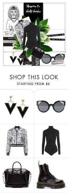 """""""Untitled #400"""" by krissu111 on Polyvore featuring Lori's Shoes, Fendi, Moschino, Wolford, Givenchy and Dr. Martens"""
