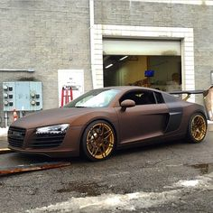 #Audi R8 #Spyder #Spoiler #Custom #Matte Brown
